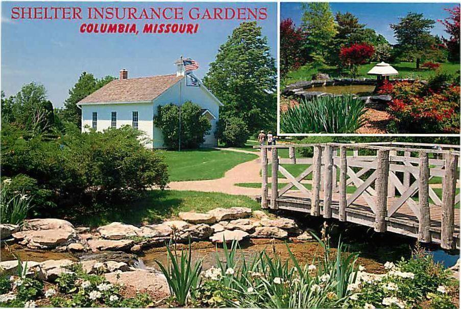 Postcard Shelter Insurance Gardens Columbia Missouri