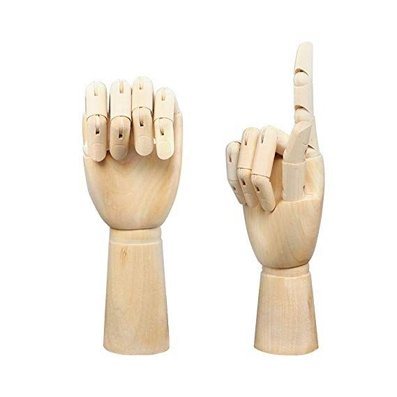 Art Drawing 10 Jointed Flexible Manikin Mannequin Wooden Right Hand Model