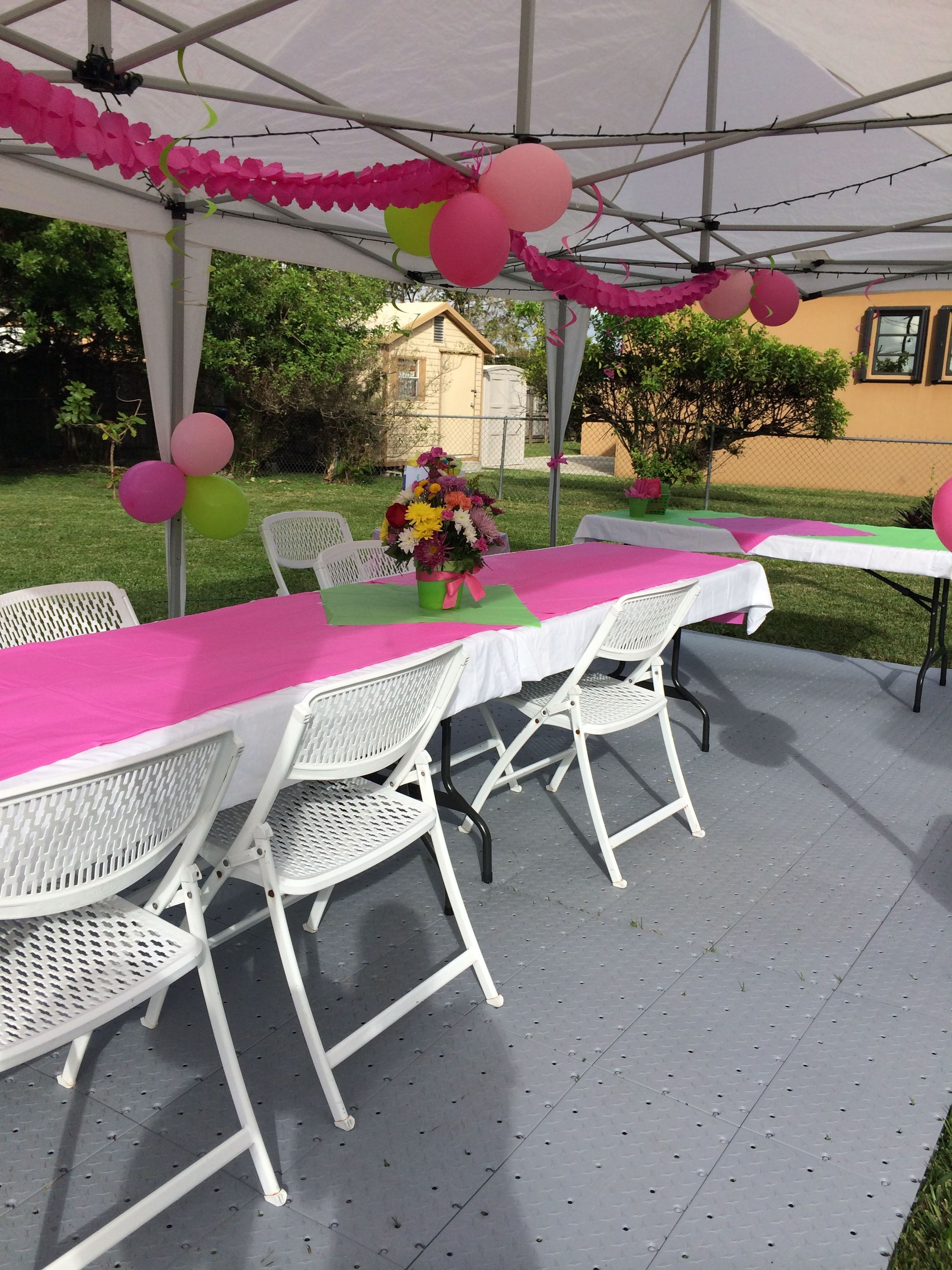 small backyard spring birthday party for 10 we supplied the tent rh pinterest com