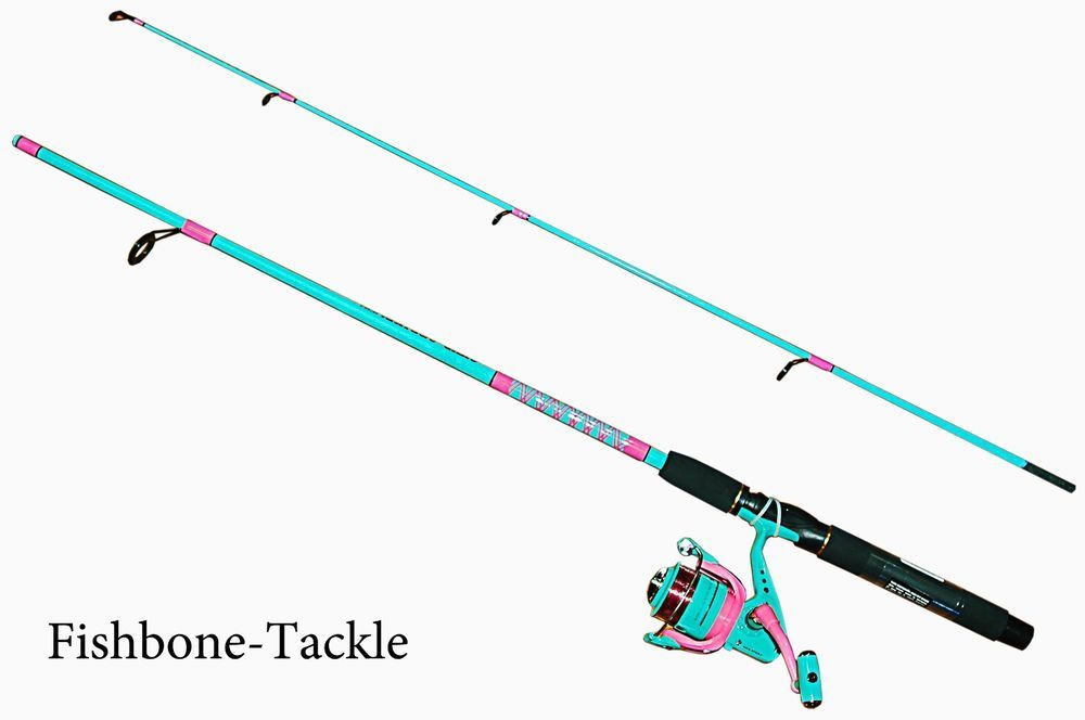 New 6 Fishing Spining Rod And Reel Combo For Ladies Pink And Green Shur Strike In Sporting Goods Pink Fishing Rod Fishing Rods And Reels Fishing Rod Carrier
