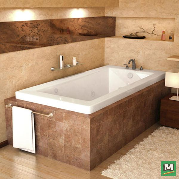 This Marshall 42\'\' x 60\'\' Jetted Bathtub combines simple ...