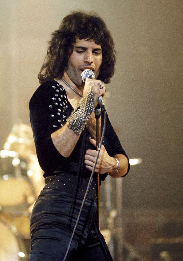 Photo of Freddie MERCURY and QUEEN; Freddie Mercury performing live... #freddiemercury