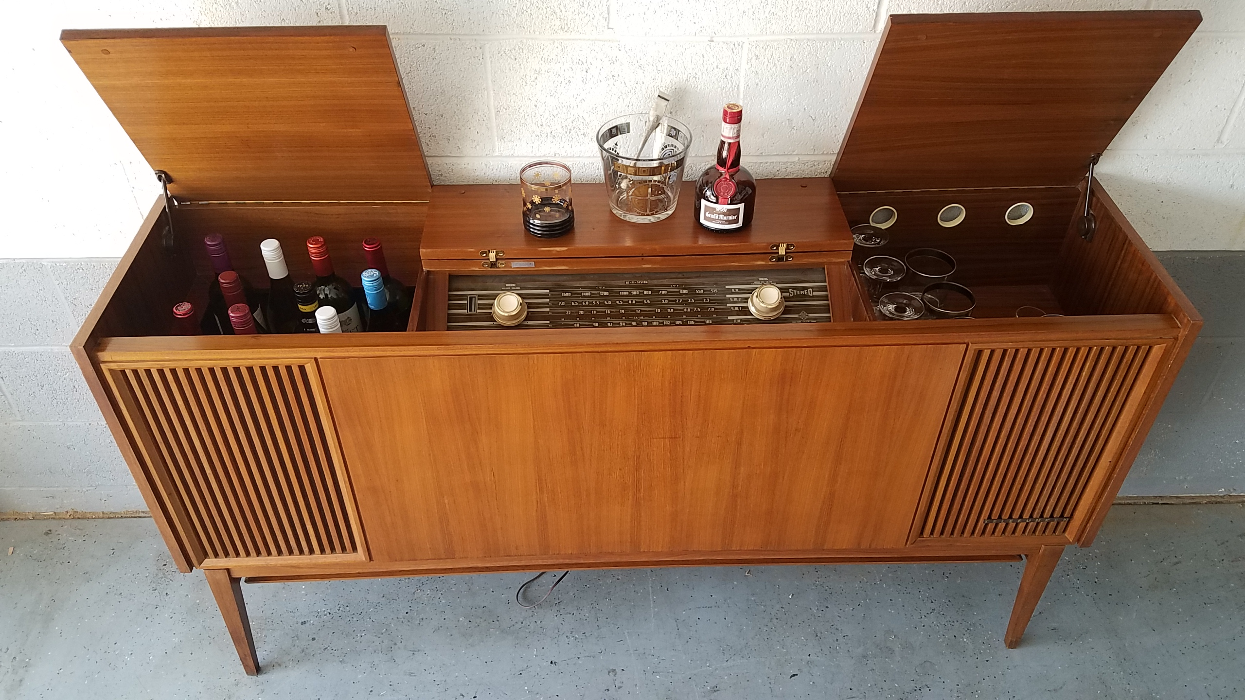 Mid Century Bar Repurposed From A Vintage Telefunken Stereo Available
