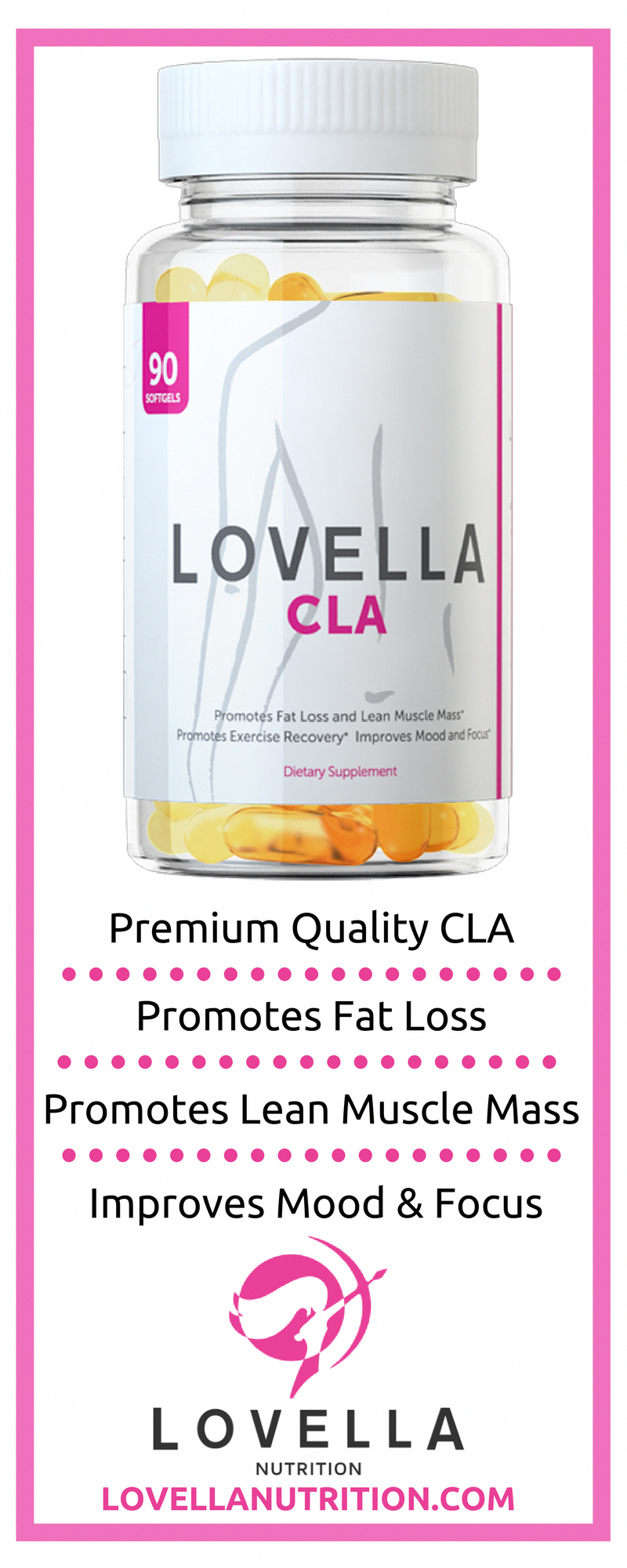 Lovella Cla Conjugated Linoleic Acid Weight Loss Supplement
