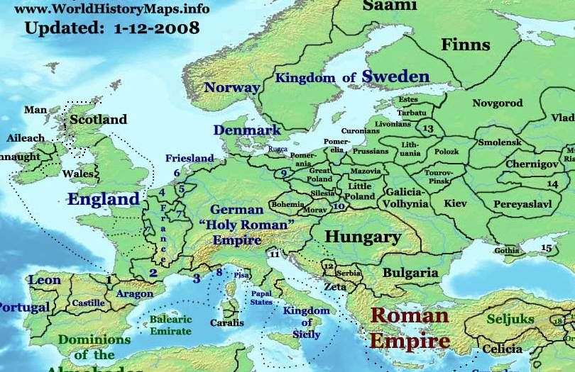 Europe 1200 Ad Hungarians Magyars Arrived In The Land Of Hungary