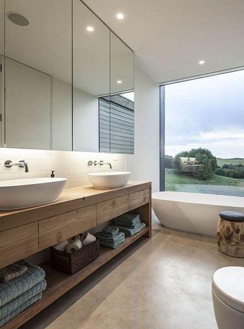 Mobile piano lavabo in legno di castagno massello, in questa foto ...