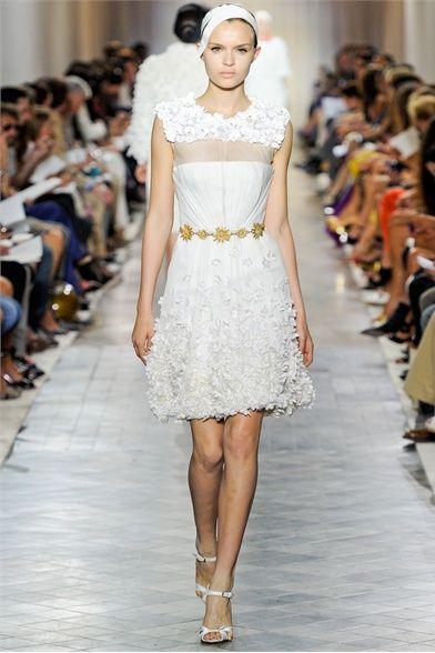 Giambatista Valli.  What a darling wedding dress this would make!