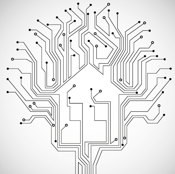 Technology Electronics Artificial Intelligence Network Internet Elements Illustrations Innovation Personalit Technology Background Vector Technology Technology