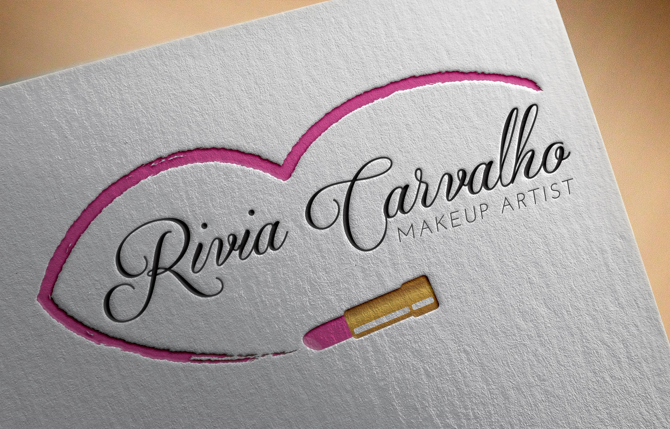 Logo I made for Makeup artist Rivia Carvalho. Contact me