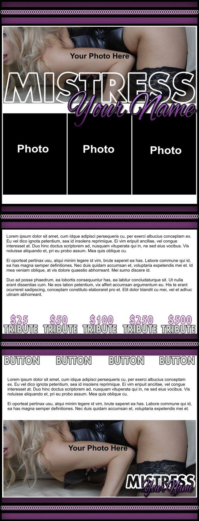 Mistress Purple Niteflirt Template