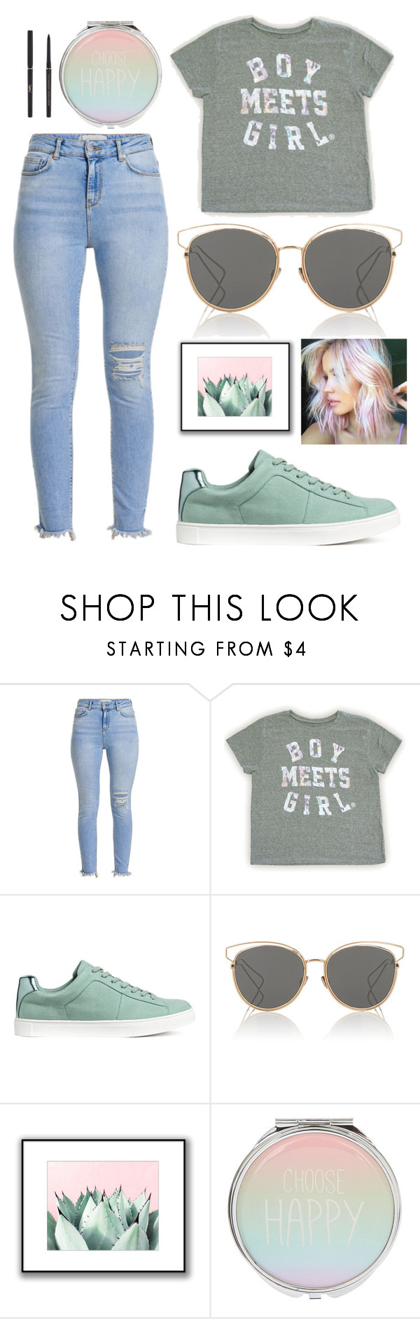 """""""Untitled #446"""" by angela229 ❤ liked on Polyvore featuring H&M, Christian Dior and Yves Saint Laurent"""