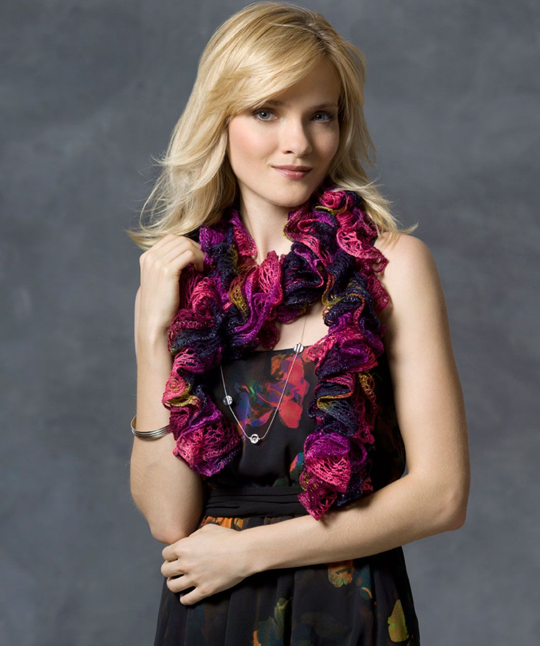 Nanette Ruffle Scarf - I\'m making up a LOT of these! So easy that ...