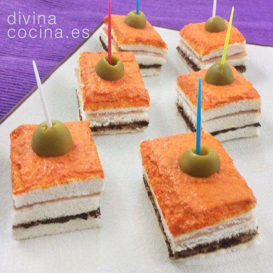 Receta de canap s tres colores divina cocina color y for Divina cocina canapes