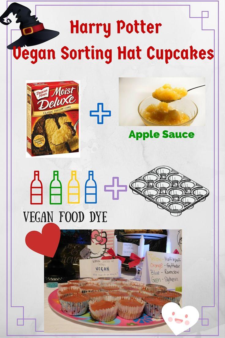 Easy Harry Potter Vegan Sorting Hat Cupcakes Vegan Pinterest