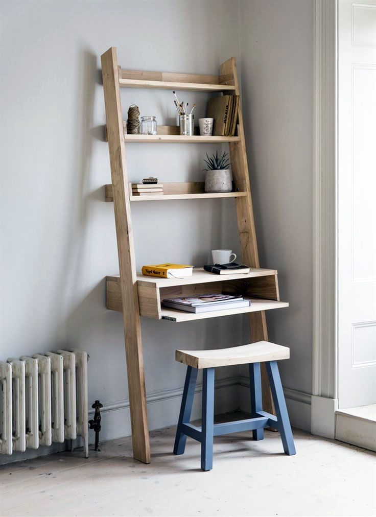 Do It Yourself Step Ladder Shelves Home Office Furniture Home Office Design Home Office Decor
