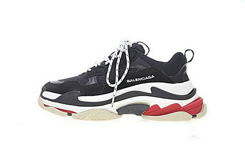 535106bf2cd8 Balenciaga Triple S Black Red 656686W06G011001 Cheap Sneakers Sneaker