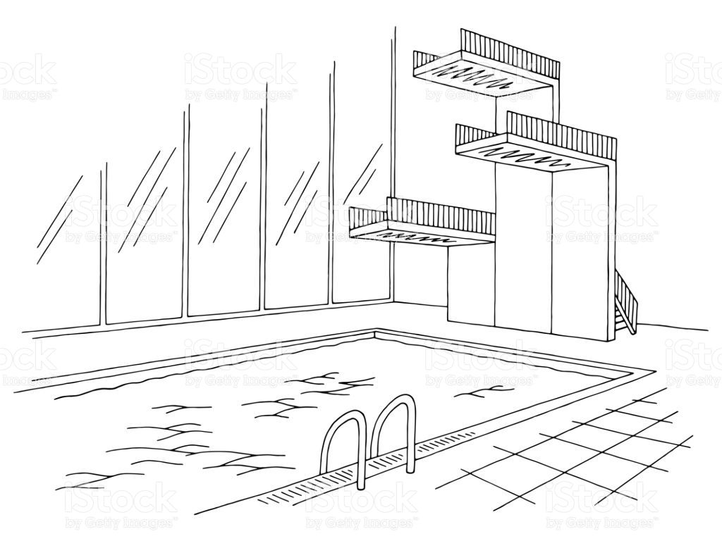 Image result for swimming pool interior inside house outline ...