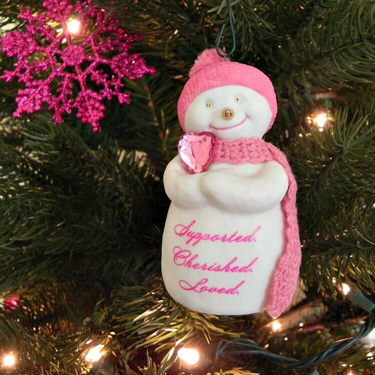 cancer-christmas-tree-snowman - Breast Cancer Awareness Christmas Tree And Why I Have One Tree