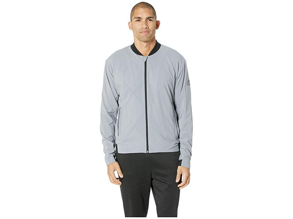 Adidas Barricade Jacket Grey Men S Coat Block Out The Shade Cast Down By The Competition When You Step Onto The Cour Jackets Adidas Barricade Tennis Clothes