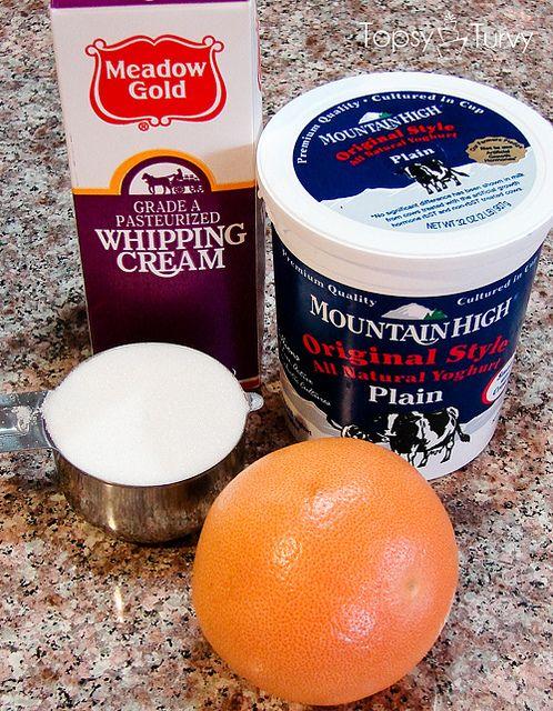 grapefruit-frozen-yogurt-ingredients by imtopsyturvy.com, via Flickr