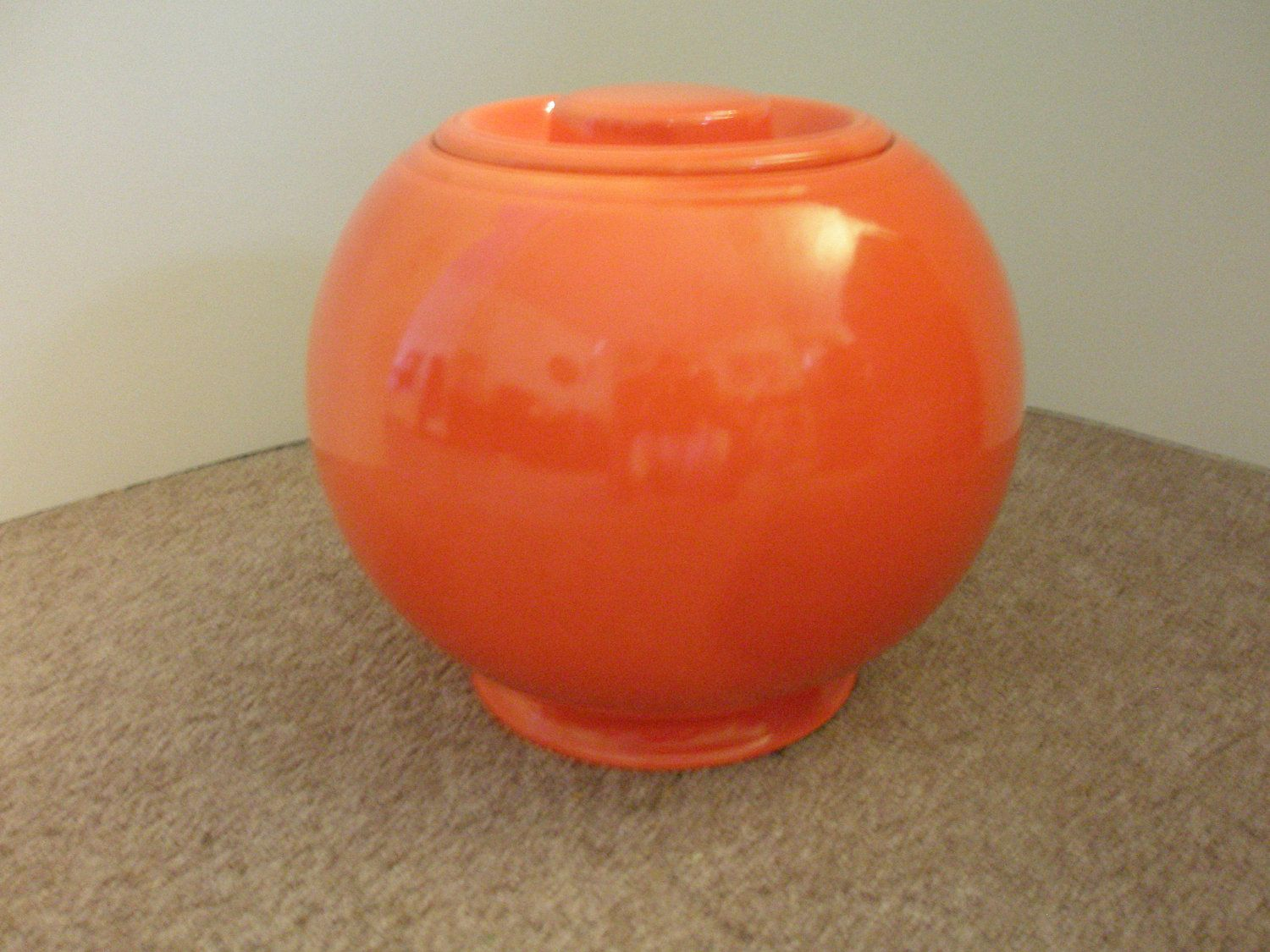 Just Jars Vintage Fiestaware Red Orange Kitchen Kraft Cookie Jar
