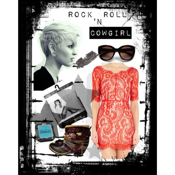 """Rock N Roll Cowgirl"" by fleecombs on Polyvore"
