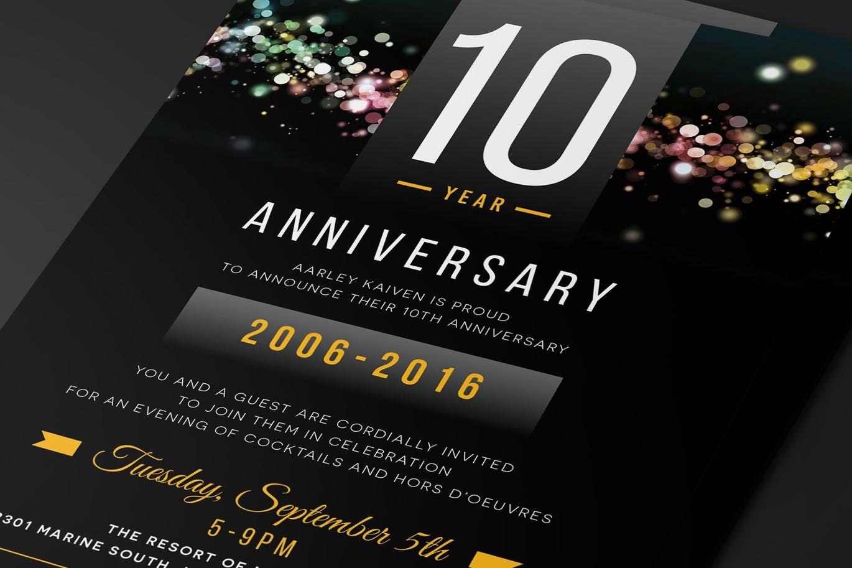Anniversary Invitation By Aarleykaiven On Envato Elements Anniversary Invitations Invitation Template Invitations