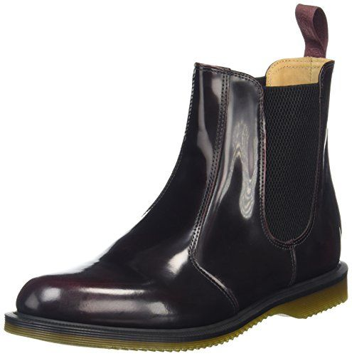 Dr. Martens Women's Flora Ankle Boot,Cherry Red Arcadia ...