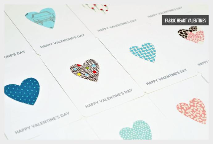 fabric heart valentines