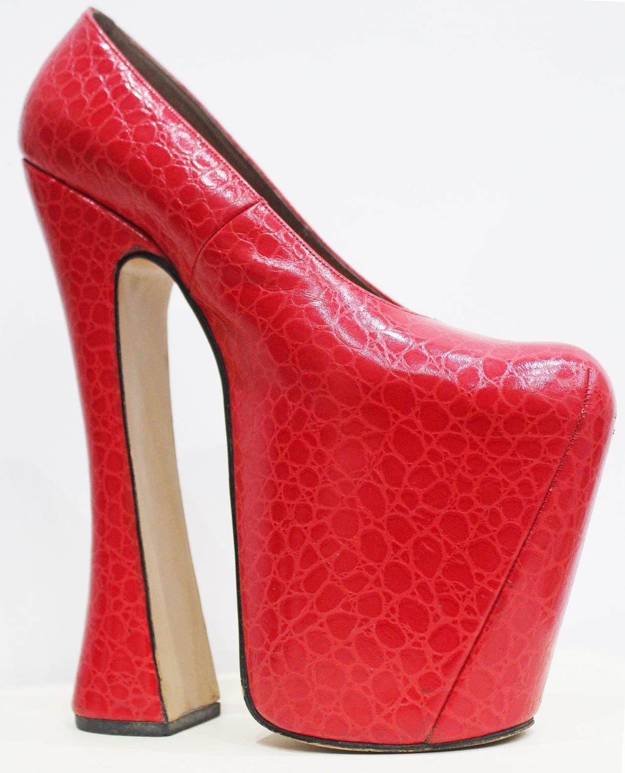 734c3474ba Vivienne Westwood Elevated Court Shoe C. 1993 Shoes, Red Size 6 ...