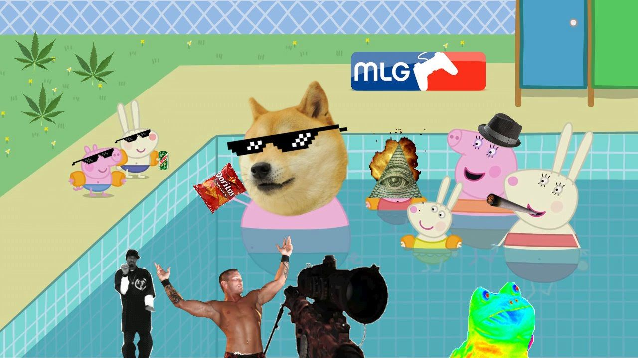Mlg Peppa Pig Goes To The Swimming Pool Diy Sell Pinterest