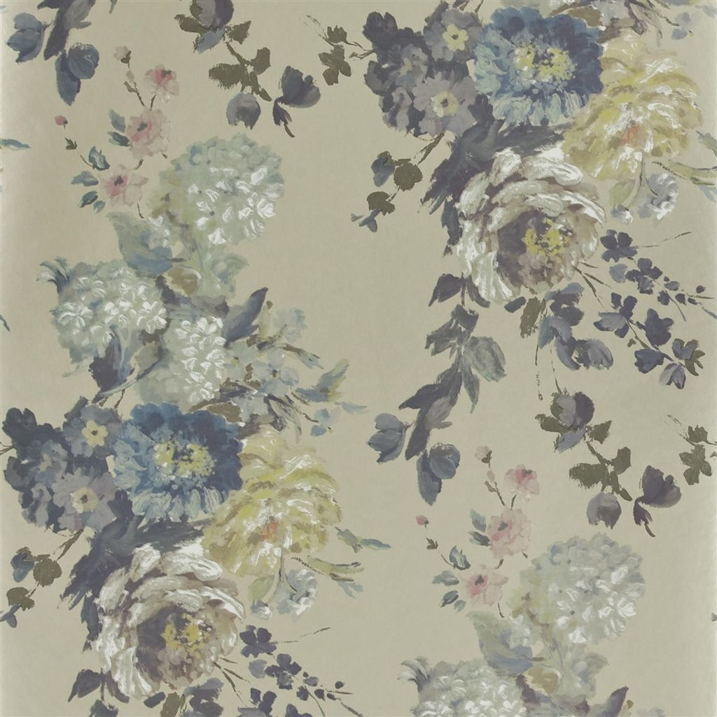 seraphina silver wallpaper Designers Guild VARIOS