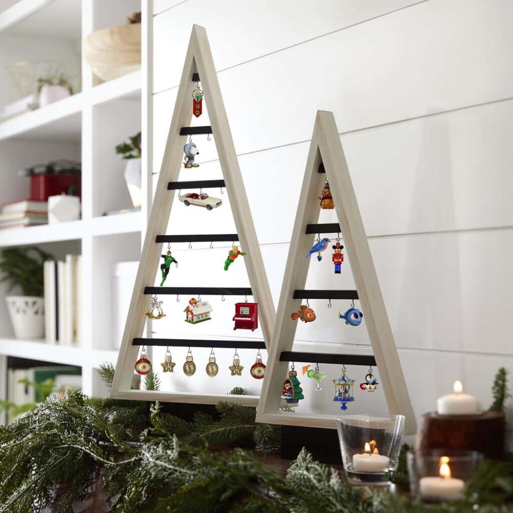 Small Wooden Miniature Ornament Display Tree 15 5 Keepsake Ornaments Hallmark Ornament Tree Display Wood Christmas Decorations Mini Christmas Ornaments
