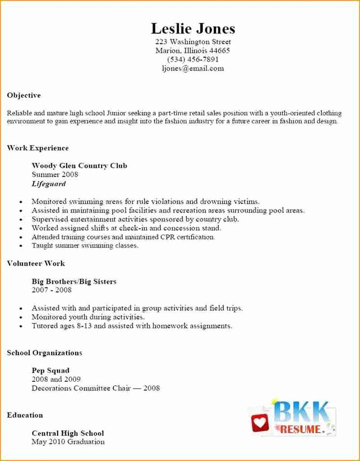25 Part Time Job Resume Template in 2020 Job resume