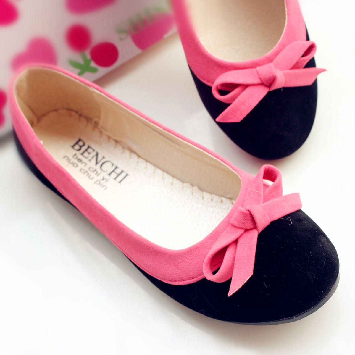 Fall New Pretty Big Bowknot Women's Flat Shoes: tidestore.com ...