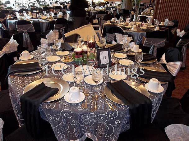 Beautiful Black And Silver Decor For Your Wedding Reception