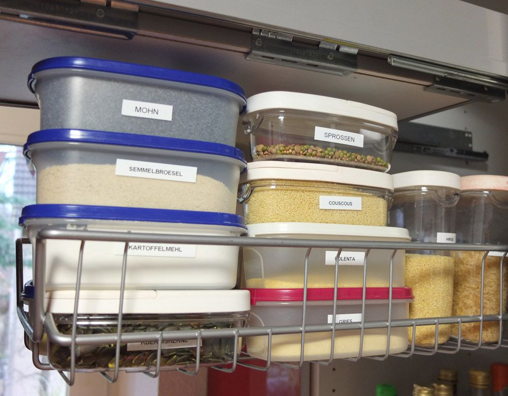 Ordnungsideen für Reis, Nudeln, Polenta und Co im Küchenschrank ... | {Küchenschrank ikea 98}