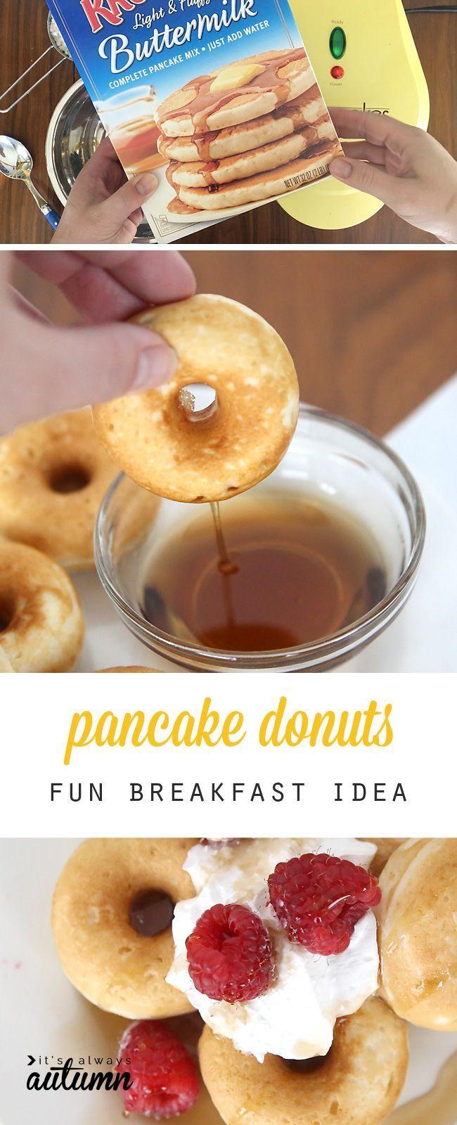 Mini Pancake Donuts Fun Breakfast Idea Breakfast And