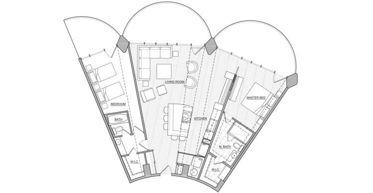 Marina City Apartment Renovation Floor Plan Houses Plans