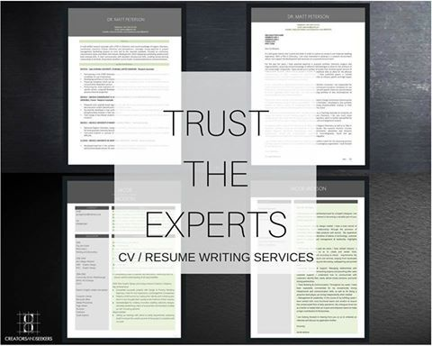 Order your CV / Resume and Cover Letters and receive Professional