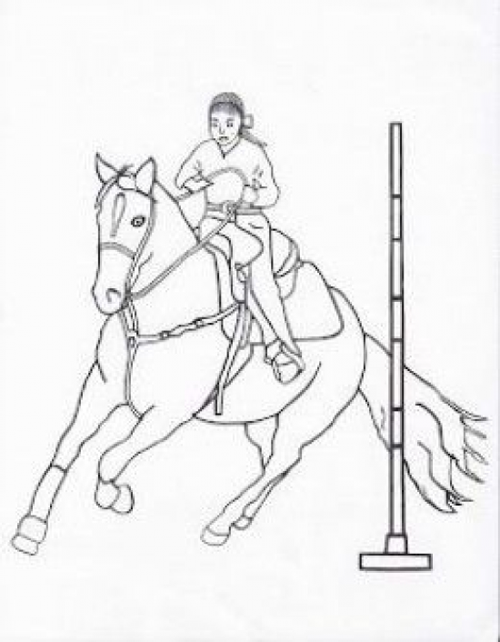 Free Printable Rodeo Coloring Pages Kidswoodcrafts In 2020 Horse Coloring Pages Coloring Pages Horse Coloring