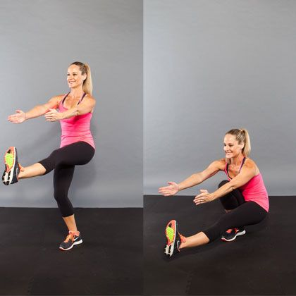 The pistol squats look so hard, but I really want to try them.