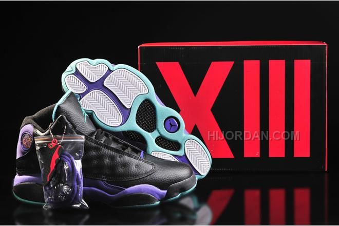 76c47bd679e4 Michael Air Jordan 13 Women Gs Grape Purple Black Teal 91792