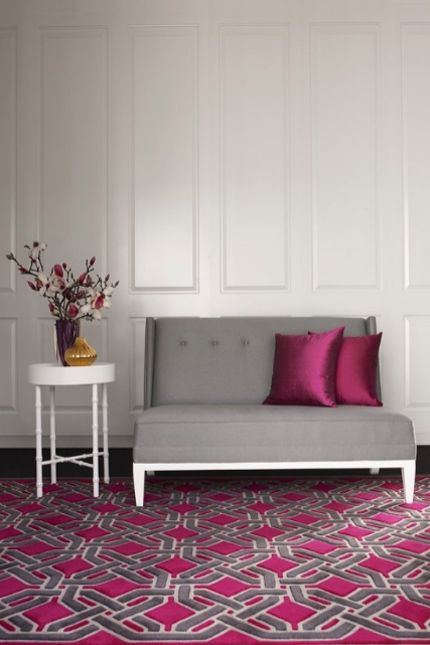 Grey Amp Magenta Combo Pink Bedroom Design Design