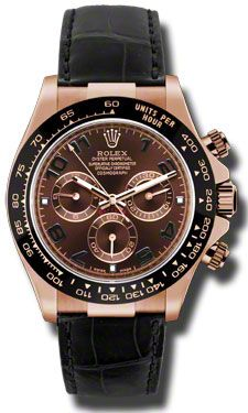 1bbb4a3f164 Rolex Watches - Daytona Everose Gold - Leather Strap Rolex Oyster Perpetual  Cosmograph Daytona Watches. 40mm 18K Everose pink gold case