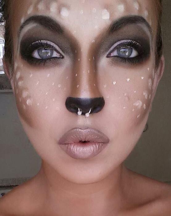 Bambi-Kostüm selber machen Kostümidee für Karneval, Halloween & Karneval - Make-up Geheimnisse #diycostumes