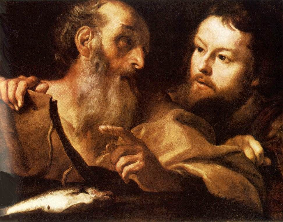 best gian lorenzo bernini images baroque art saints andrew and thomas before 1627 painted by gian lorenzo bernini at the national gallery