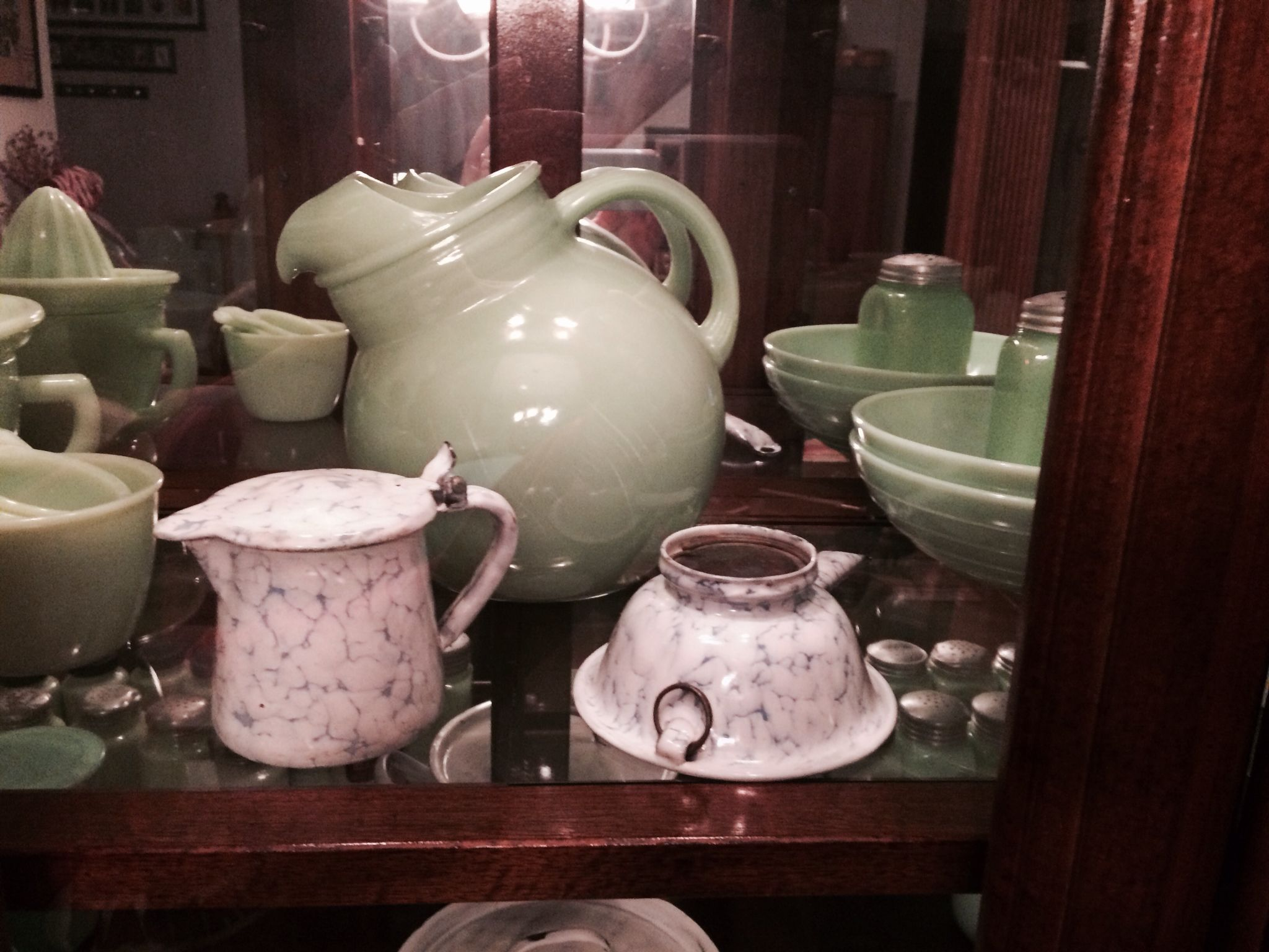 In their new home with the Jadeite pieces.