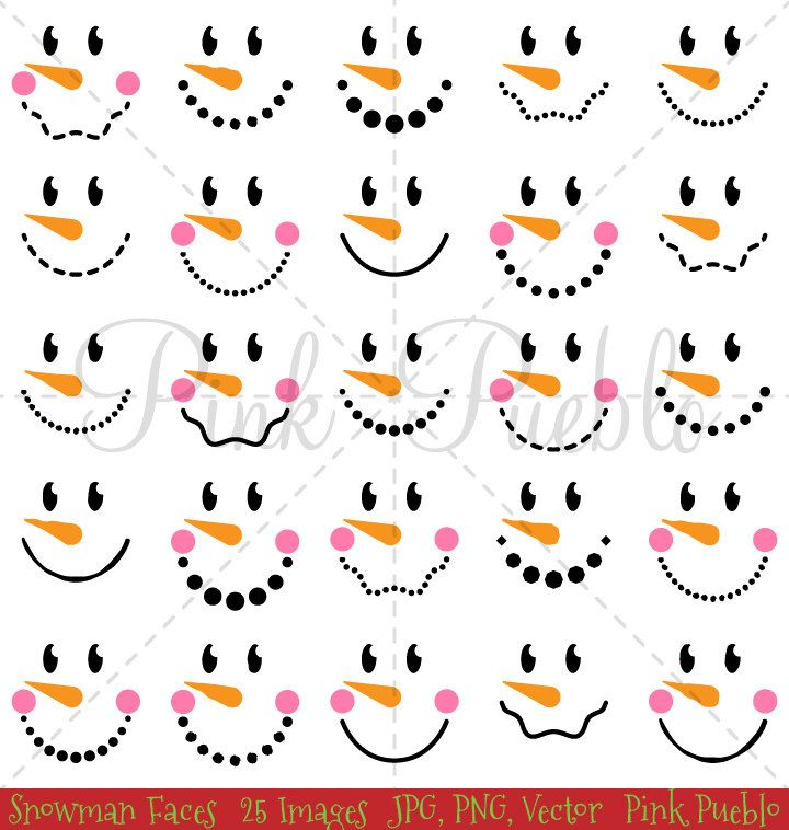 Snowman Faces Christmas Clipart Clip Art Snowman Christmas Etsy Printable Snowman Faces Snowman Faces Printable Snowman