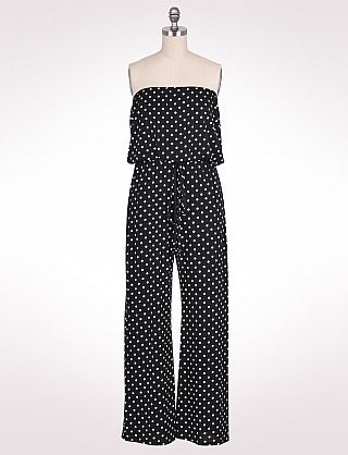 Dress this jumpsuit up or down and you can add splashes of color as ...